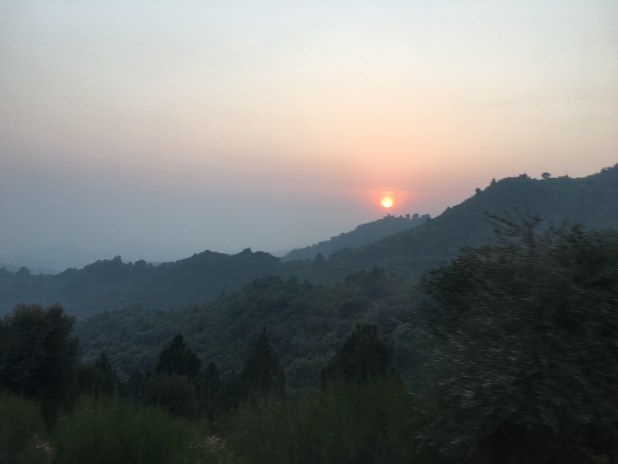 Sun sets on the hills in the outskirts of Islamabad, Pakistan's federal capital. (Photo by ViewsWeek)