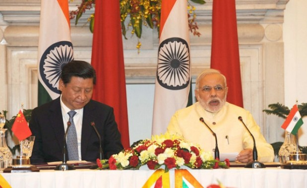Prime Minister Shri Narendra Modi at the Press Briefing with President Xi Jinping of China. (Flickr/Narendra Modi, CC license)