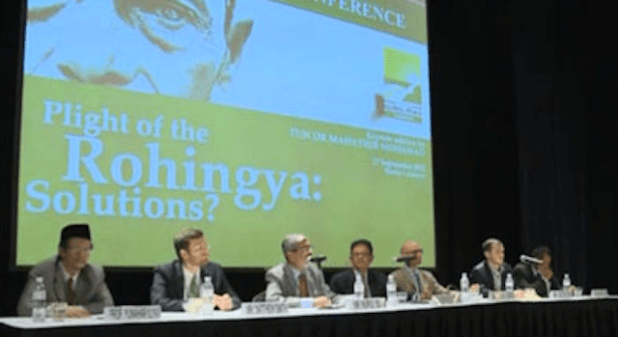 A meeting of Rohingya Muslim leaders and their supporters at a January panel. (Photo via Rohingya.org)