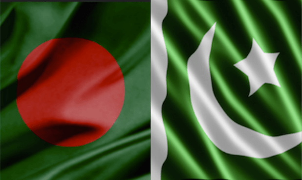 Pakistan Bangladesh flags