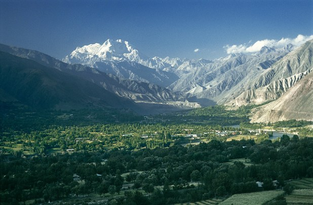 Vista of the Tirich Mir Mountain across the Chitral valley. (Photo by zerega, CC License)