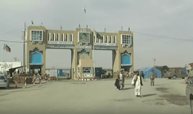 Pakistan-Afghanistan border at Chaman in Balochistan province was closed after the unprovoked firing by Afghan border guards. (Photo via video stream)