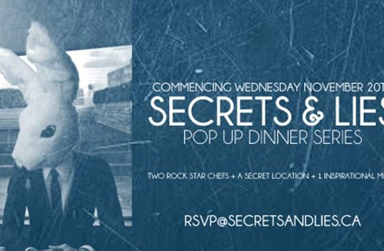 Secrets and Lies - Pop Up Dinner Experience