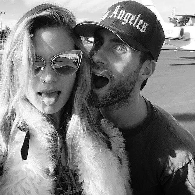 Behati Prinsloo and Adam Levine (Image: Instagram/@AdamLevine)