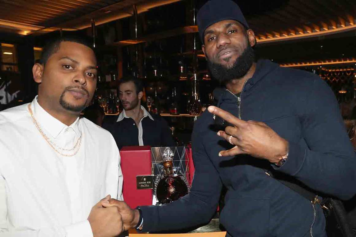 Chubbs (L) and Lebron James attend as Lebron James hosts Dwyane Wade's Birthday with The House Of Remy Martin at Drake's New Pick 6ix Restaurant on January 9, 2018 in Toronto, Canada. (Photo by Johnny Nunez/Getty Images for Remy Martin)