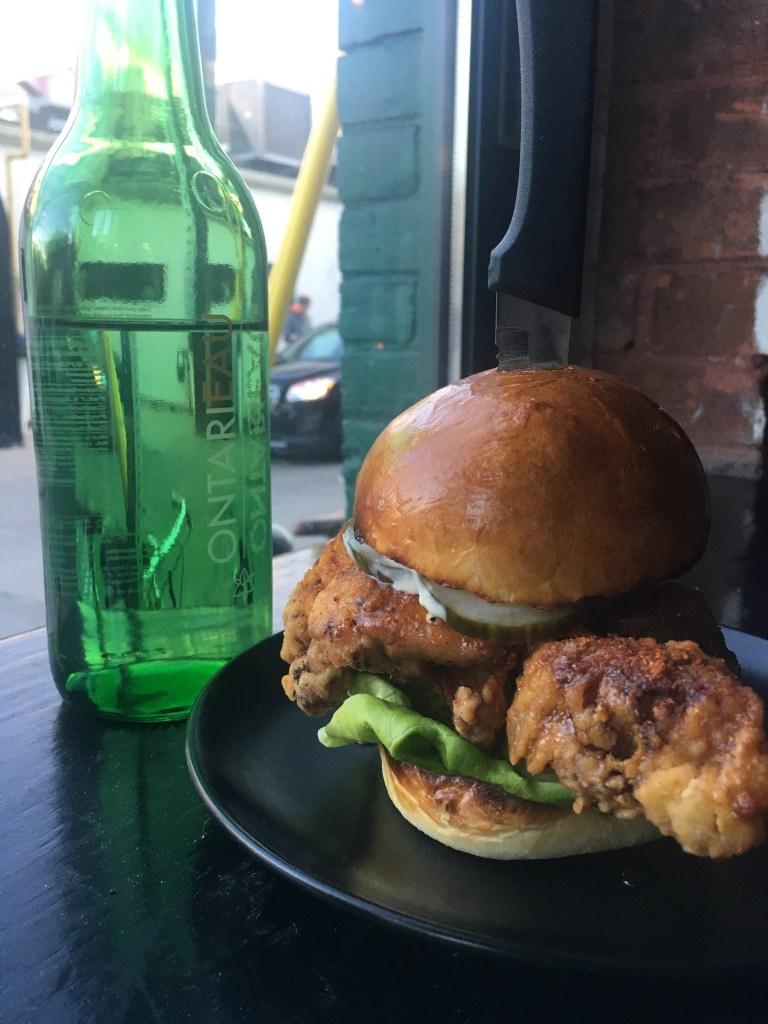 Fried Chicken Sandwich at OMAW