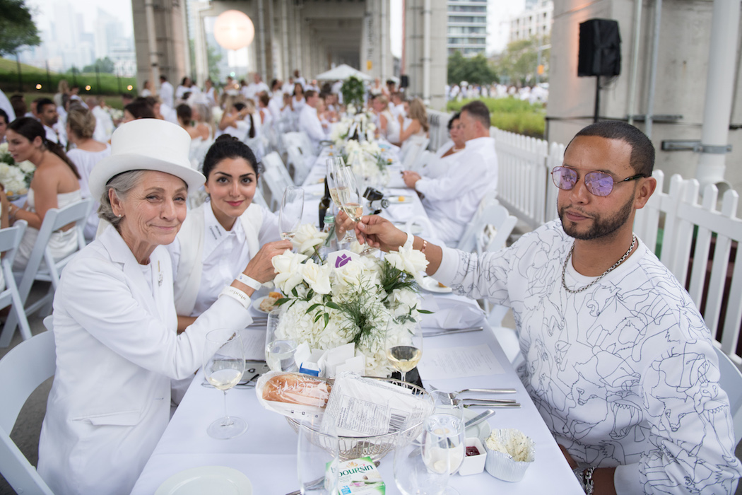 Andrea Bolley, The 6ix Mom, Director X at the Diner en Blanc Toronto 2018   View the VIBE Toronto
