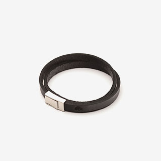 Ezra Double Wrap Leather Bracelet - View the VIBE