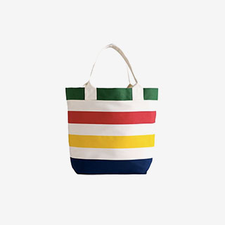 Multi Stripe Canvas Tote HBC - View the VIBE
