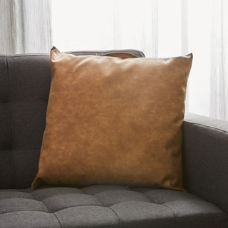 Structube Leather-Like Cushion - View the VIBE