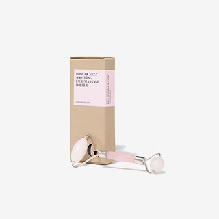 Rose Quartz Soothing Face-Massage Roller - View the VIBE