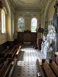 The chapel pews?