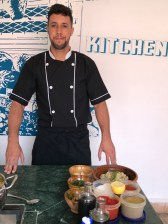 Chef Simo En at the Clock, Marrakesh