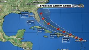 tropical storm erika 13