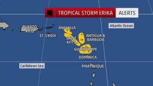 tropical storm erika 5
