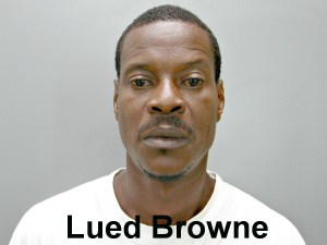 Mug Shot Lued Browne w text