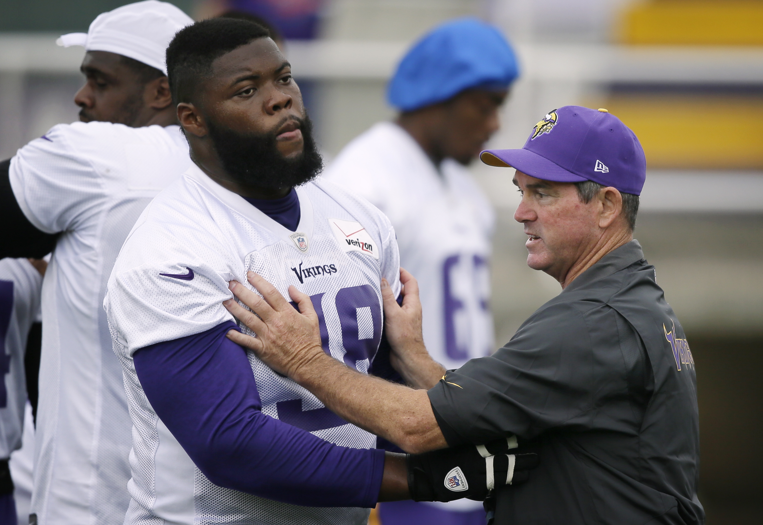 St Croix s Linval Joseph Shows Up To Vikings Training Camp Out