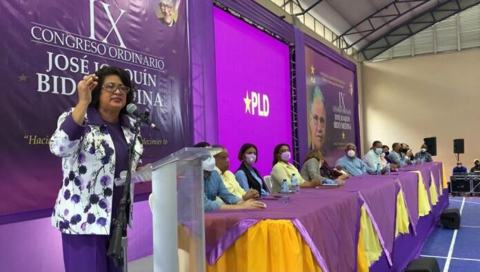 Cristina Lizardo resalta trabajo de dirigentes y miembros del PLD en 9no congreso