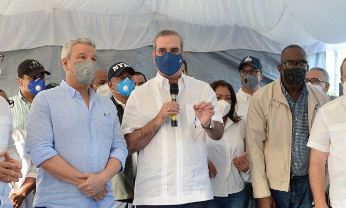 Abinader promete obras prioritarias para Los Alcarrizos
