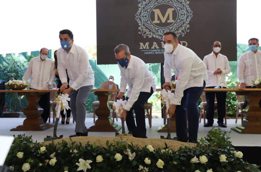 Presidente Abinader da primer picazo para ampliación del Hotel Mauad; anuncia un Centro de Convenciones en Santo Domingo