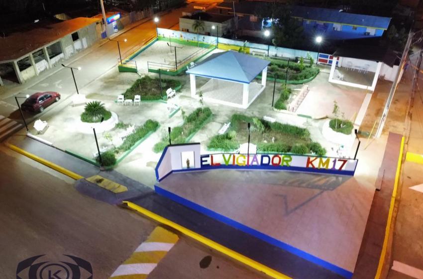 Alcalde Lucho Reyes realiza remozamiento total al Parque Municipal de El Vigiador