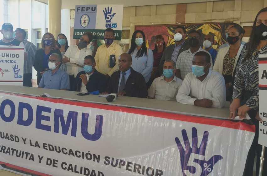 Asodemu y Faprouasd anuncian paro en la UASD en busca de aumento salarial