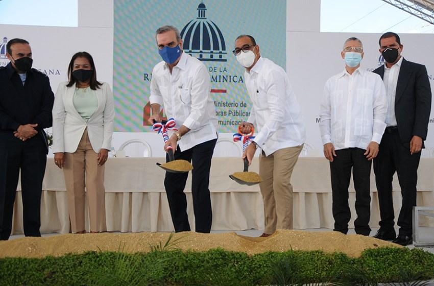 Presidente Abinader da el primer palazo que deja iniciados los trabajos de ampliación de la autopista a San Isidro