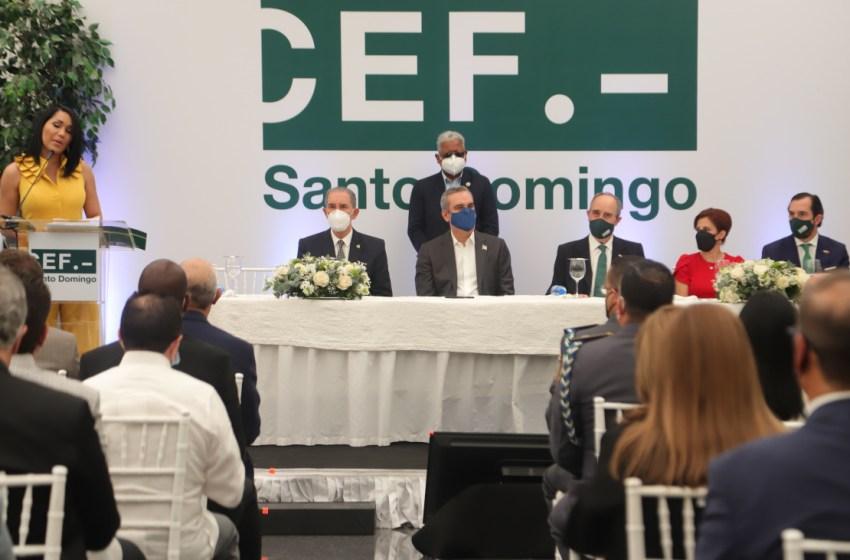Presidente Luis Abinader asiste a la inauguración de nuevo centro de estudios superiores CEF.- Santo Domingo
