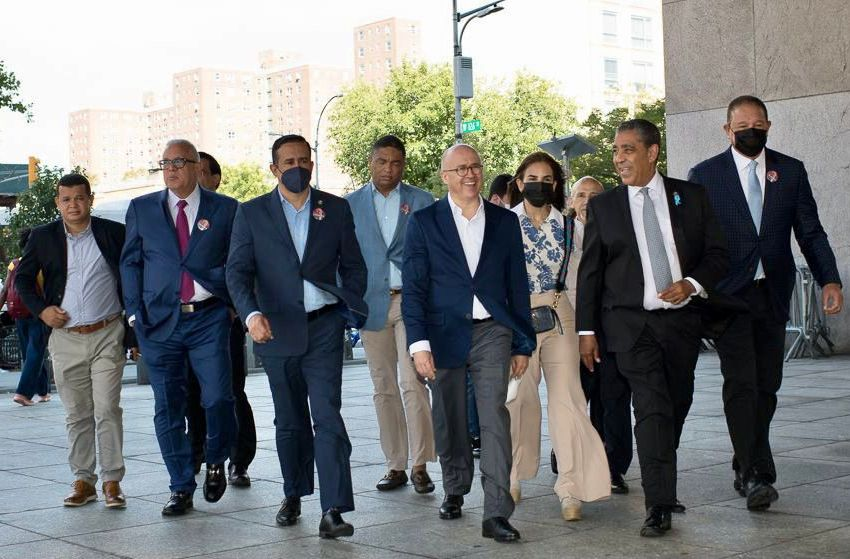 Francisco Domínguez Brito se reúne con el Senador de Nueva York, Adriano Espaillat