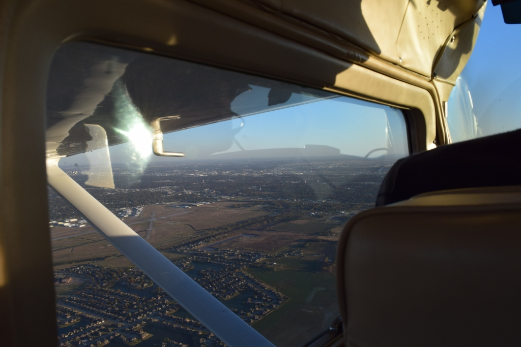 View from the sky during our FlightHorizon flight test.