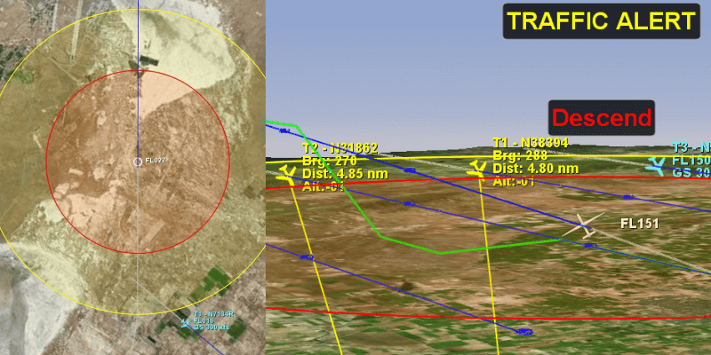 """<b>Ownship</b> Operator's ownship is displayed in the center of the map with two concentric circles or """"range rings."""" <b>Ownship Tracking</b> Track ownship by ICAO number as broadcast by the onboard transponder, to allow for easy tracking of the unmanned aircraft instantly from flight-to-flight without needing to make any adjustments to the software."""