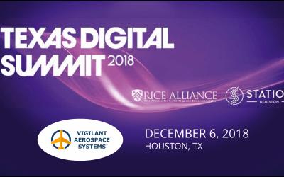 Vigilant Aerospace Chosen to Pitch at the 2018 Texas Digital Summit