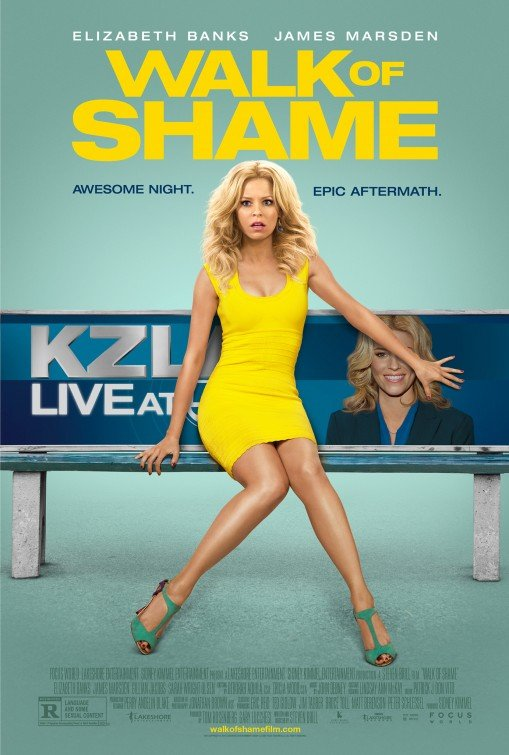 The movie Walk of Shame is about a young woman dreaming of becoming a big-time news anchor. In the movie poster, the hidden eye tells you what it truly takes to be a big-time TV personality.