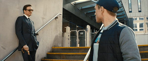 When Eggsy got arrested for stealing a car, he calls the secret number on his pendant and provides the secret password that was given to him by Galahad. Shortly after, Eggsy is released from police custody and Galahad welcomes him personally outside of the police station. Being part of the bloodline means that you are above the law.