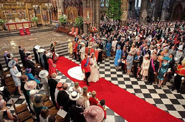 All royal events, including coronations and royal weddings, take place in Westminster Abbey, on a Masonic checkerboard pattern floor.