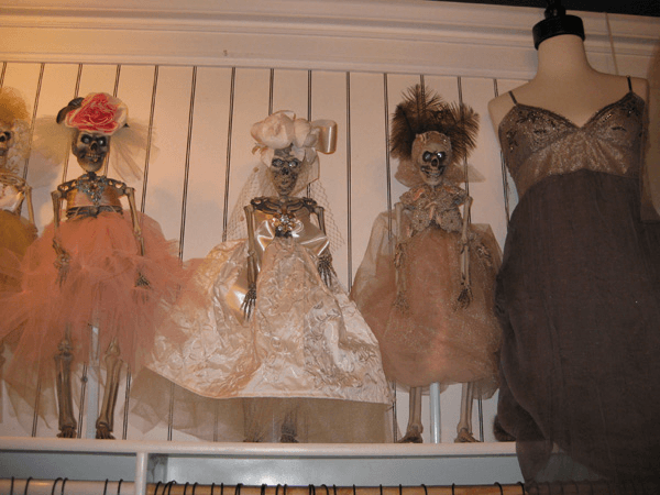Figure 1: Couture skeletons, San Diego