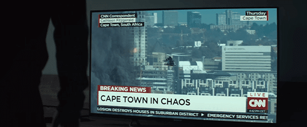 Shortly after that negative vote, the South African city of Cape Town is subject to violent terrorist attacks.