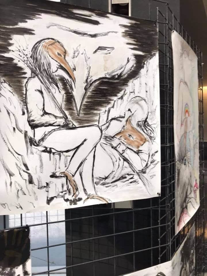 Why Are There Paintings Depicting Ritual Abuse On Display at the Las Vegas Courthouse?