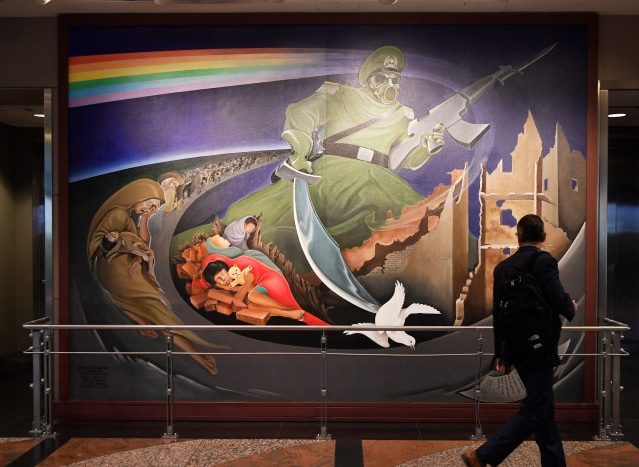 """The Denver Airport Installs a Talking Gargoyle That Says """"Welcome to the Illuminati Headquarters"""""""