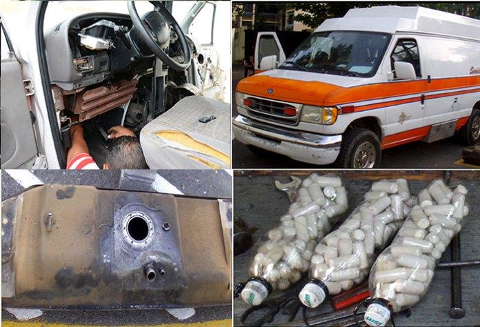 Droga ocupada por la DNCD en una ambulancia viajaría a Puerto Rico