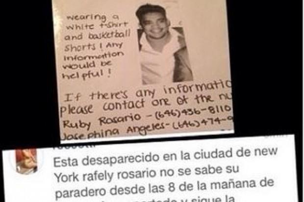Familiares reportan como desaparecido al merenguero Rafely Rosario en New Jersey