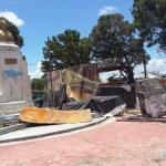 Así luce la plaza dónde está el busto del patricio Francisco del Rosario Sánchez en San Cristóbal.