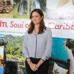 La ministra de Turismo de Haití, Stephanie Balmir Villedrouin, en la apertura de la oficina.