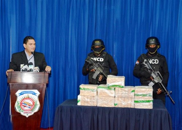 Cocaína incautada en un cargamento de Piña en Cotuí.