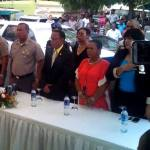 El jefe de la Policía Nacional, Manuel Castro Castillo durante la inauguración del destacamento de Palavé