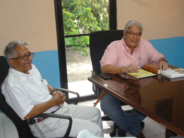 El Gordo Oviedo y Esteban Díaz Jáquez, presidente del PTD