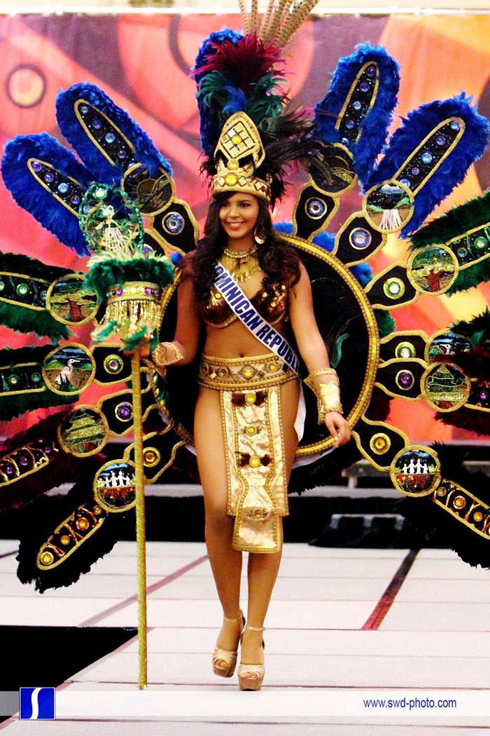 Dominicana Gana Mejor Traje Típico en Competencia Internacional de Belleza