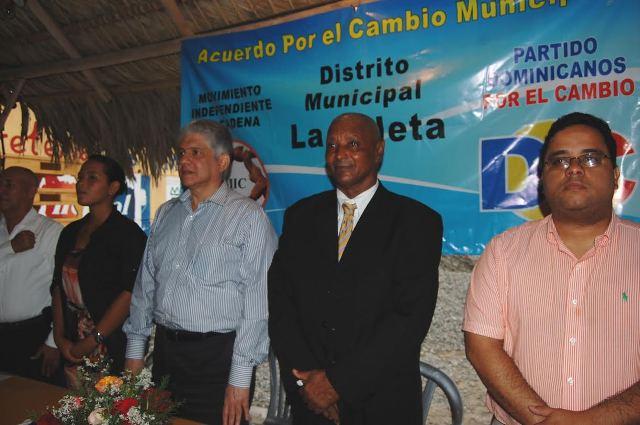 Eduardo estrella, presidente de Dominicanos por el Cambio en Santo Domingo Este