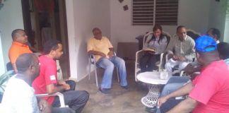 El diputado Frank Soto y su esposa compartieron un café en la residencia de Germán Suárez
