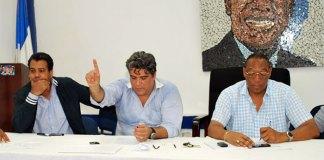 Miguel Ángel Campos y otros dirigentes del BIS